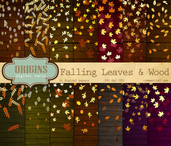 Falling Leaves Digital Paper