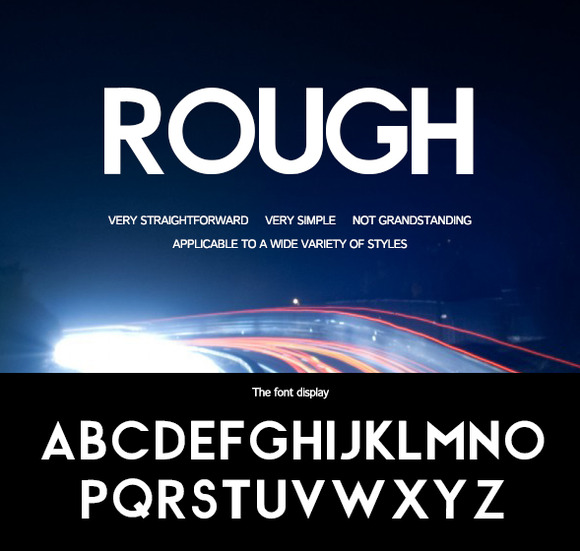 Rough-Rough Strokes Of The Font