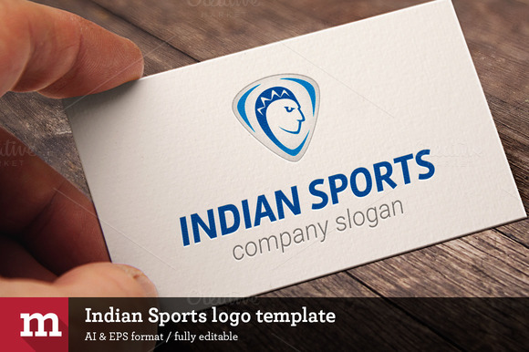 Indian Sports Logo Template
