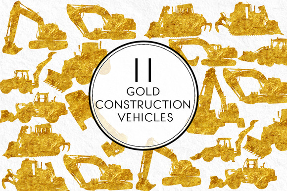 Gold Construction Vehicle