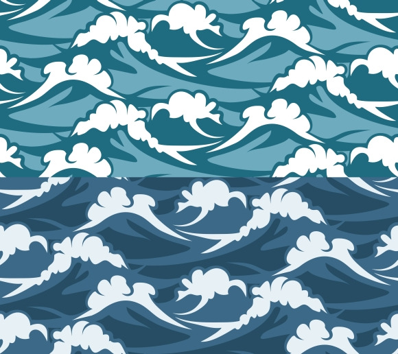 Waves Seamless Pattern