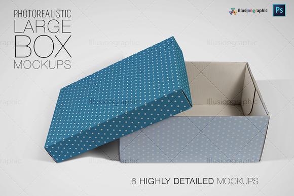 Photorealisitc Large Box Mockups