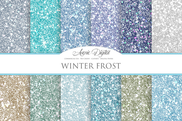 Frost Glitter Textures