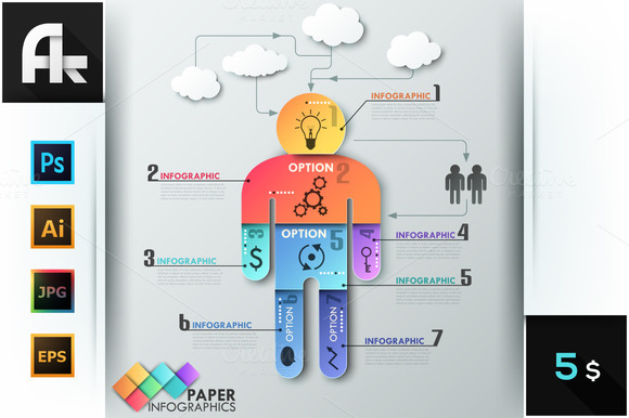 Paper Man Template