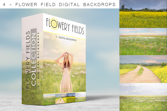 Digital Backdrops Flowery Fields