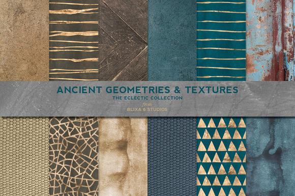 Ancient Geometric Gold Textures