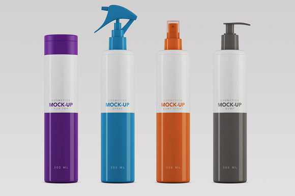 Cosmetics Packaging Mock-up 300ml