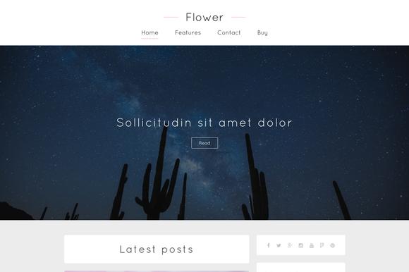 Flower Clean Looking Ghost Theme