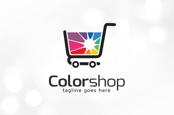 Color Shop Logo Template