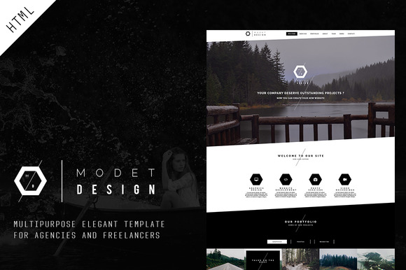 Modet Responsive One Page Template