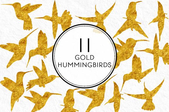Gold Hummingbirds