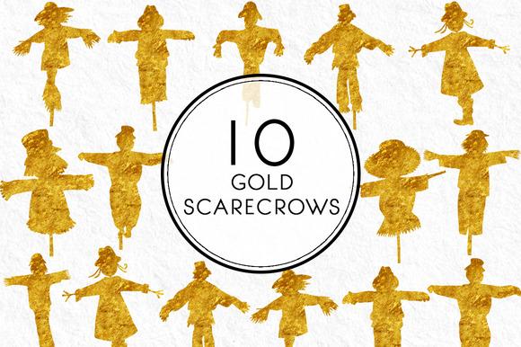 Gold Scarecrows