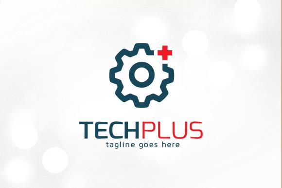 Technology Plus Logo Template