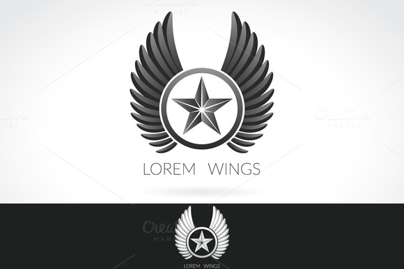 Wing Logo Template Label Emblem