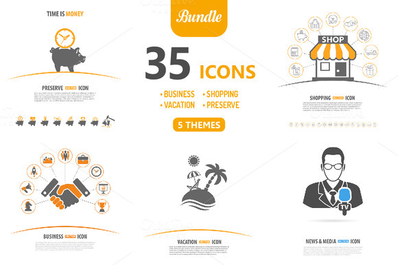 35 Icons In 5 Themes