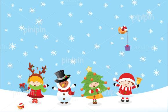 Kids With Christmas Costume