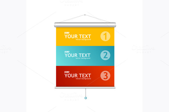 Blank Roll Up Posters Vector