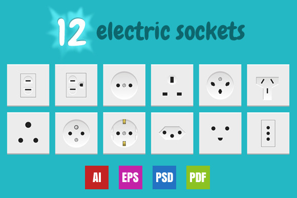 12 Electric Sockets