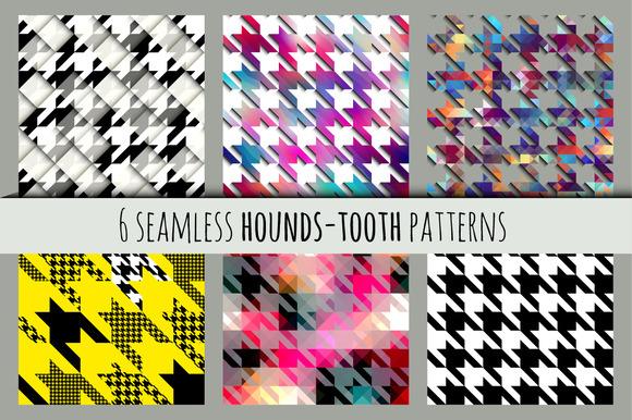 Set Of Hounds-tooth Patterns