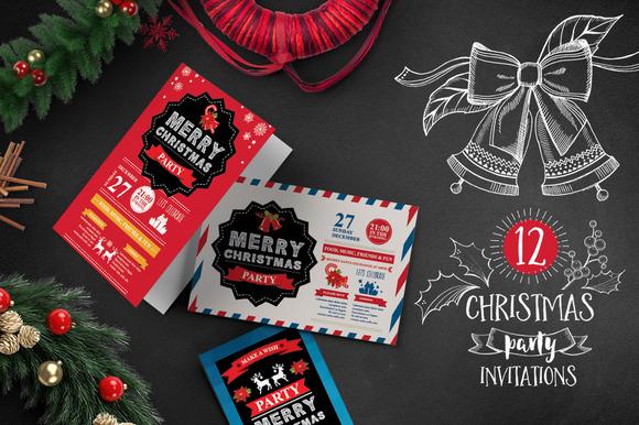 12 Christmas Invitations