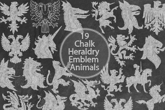Chalk Heraldry Emblem Animals