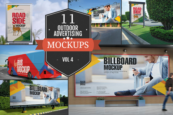 Outdoor Advertising Mockups Vol 4