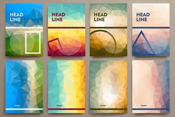 Abstract Brochures In Poli Style
