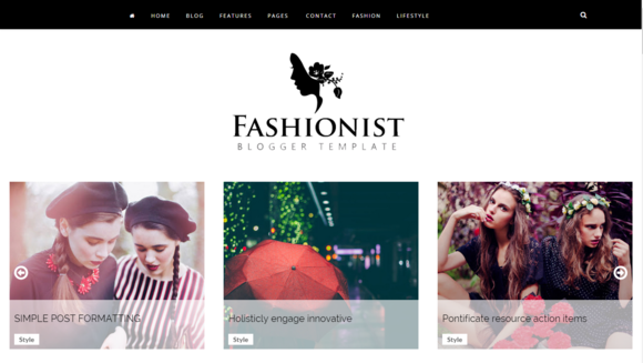 Fashionist Blogger Template