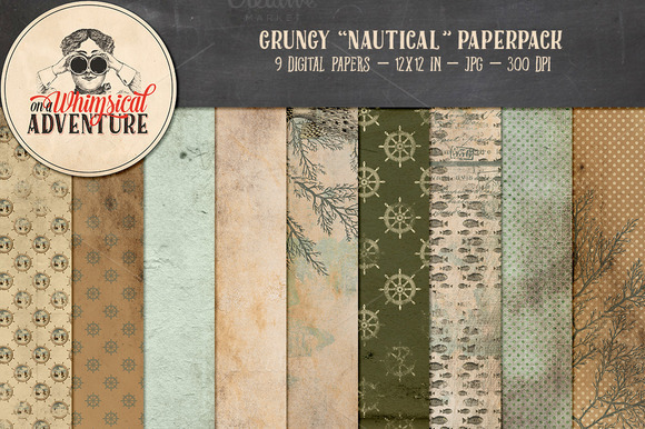 Grungy Nautical Papers