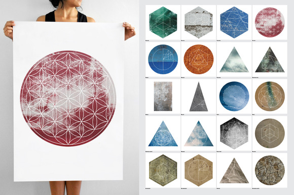 Large Geometric Textures 20 Items
