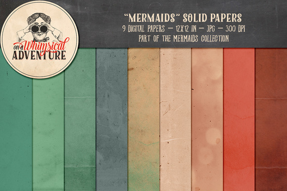 Mermaids Solid Papers