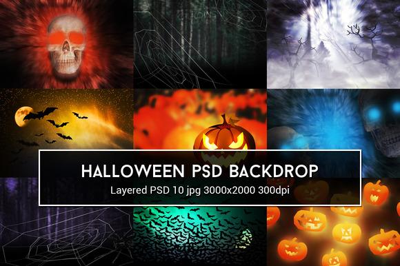 Halloween PSD Backdrop