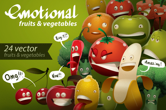 Emotional Fruits Vegetables