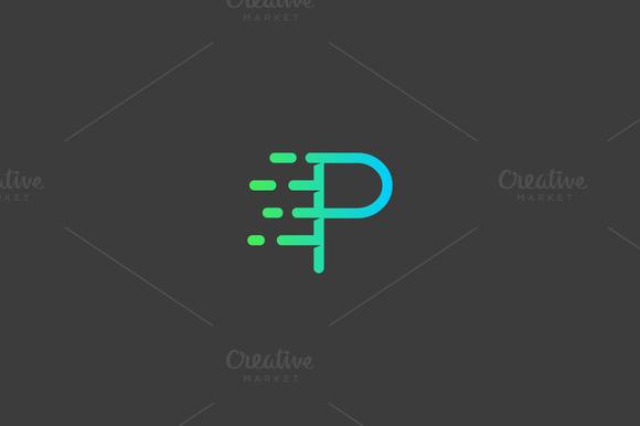 Dynamic Moving Letter P Logo
