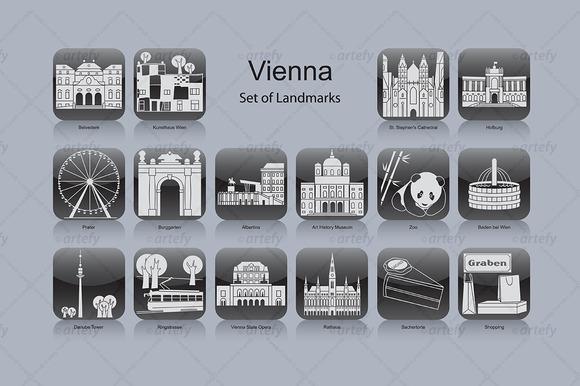 Vienna Landmark Icons