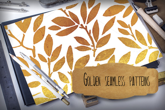 Golden Seamless Patterns