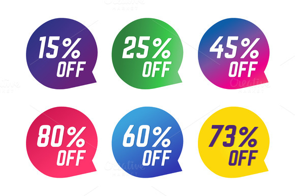 Sale Off Vector Tags Sale Stickers