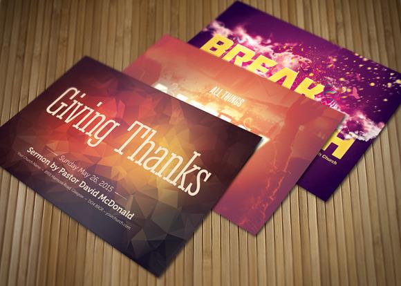 Give Thanks Church Postcard Bundle