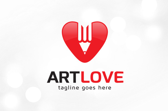 Art Love Logo Template