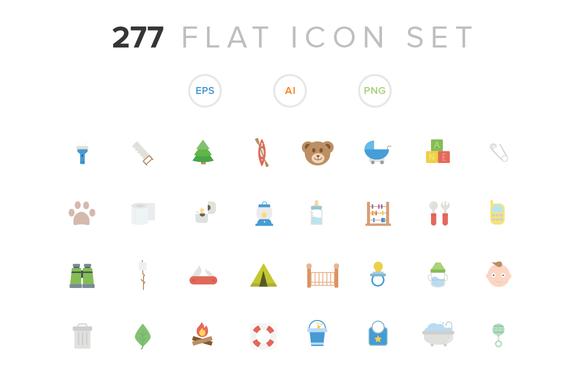 277 Flat Icon Set