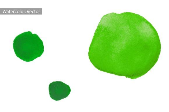 Green Watercolor Splashes Vector