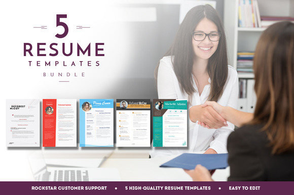 5 Resume Templates Bundle 4