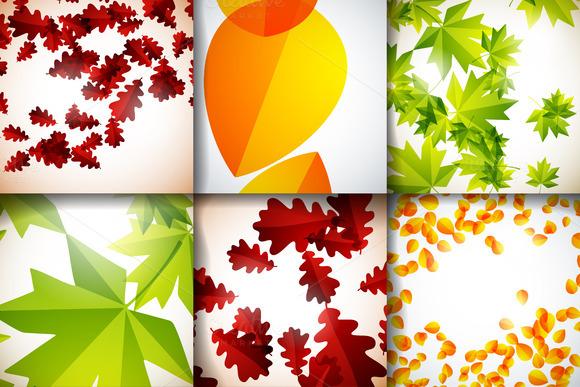 Brilliant Set Of Autumn Backgrounds