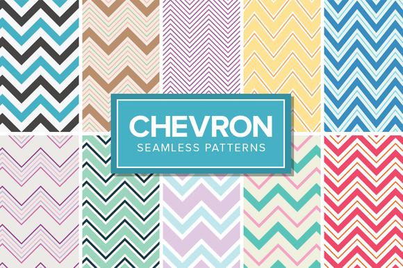 14 Chevron Patterns Seamless