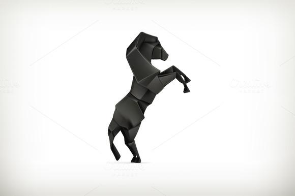 Black Paper Horse