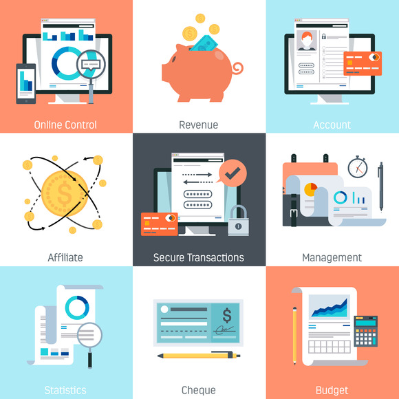Banking And Finance Theme Icon Set