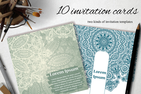 10 Invitation Cards Template