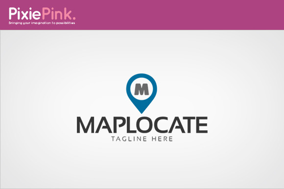 Map Locate Logo Template