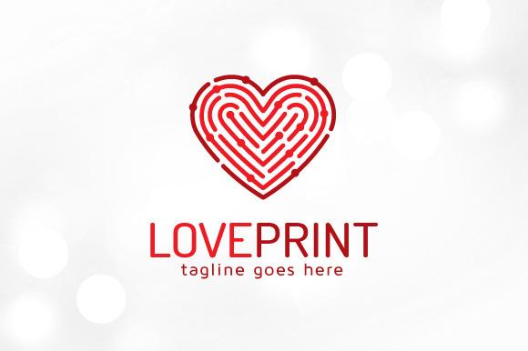 Love Print Fingerprint Love Logo