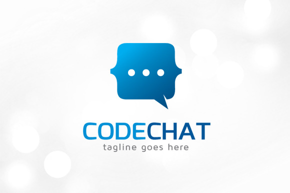 Code Chat Logo Template